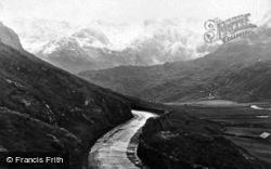 Nant Ffrancon Pass In Winter c.1924, Bethesda