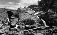 Bethesda, Ogwen Falls And Bridge c.1955
