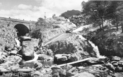 Bethesda, Ogwen Falls And Bridge c.1955