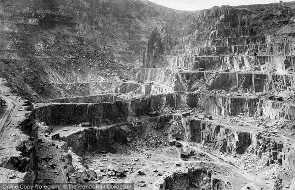 Bethesda, Penrhyn Slate Quarries 1890