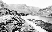 Bethesda, the Lake, Nant Ffrancon Pass c1960