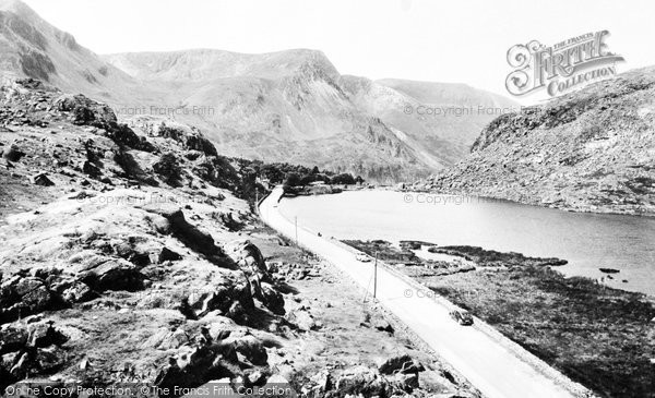Photo of Bethesda, the Lake, Nant Ffrancon Pass c1960