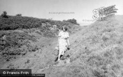 Margaret Wood At Pilsden Pen Camp c.1955, Bettiscombe