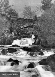 Nant Mill Falls c.1936, Betws Garmon
