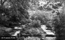 Betws Garmon, Nant Mill Waterfall 1955
