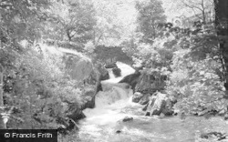 Betws Garmon, Nant Mill Waterfall And Bridge 1952