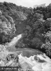 Conway Falls In Flood c.1935, Betws-Y-Coed