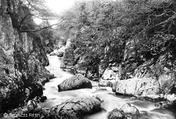 Fairy Glen From Jubilee Bridge 1892, Betws-Y-Coed