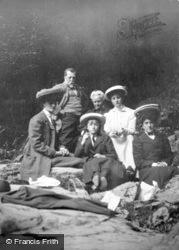 Family At Fairy Glen 1907, Betws-Y-Coed
