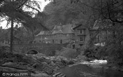 Betws-Y-Coed, River Llugwy By Fir Tree Island 1953