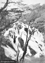 Betws-Y-Coed, Swallow Falls From Above c.1890