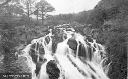Betws-Y-Coed, Swallow Falls In Flood c.1930