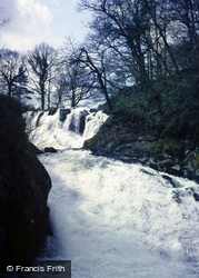 Betws-Y-Coed, Swallow Falls, The Lower Falls 1987
