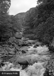 Betws-Y-Coed, The River From Miners Bridge 1953