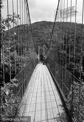 Betws-Y-Coed, The Suspension Bridge 1953
