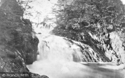 Betws-Y-Coed, The Swallow Falls From Below c.1890