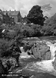 Betws-Y-Coed, View From The Bridge 1953