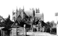 Beverley, East End from Chantry Lane 1886