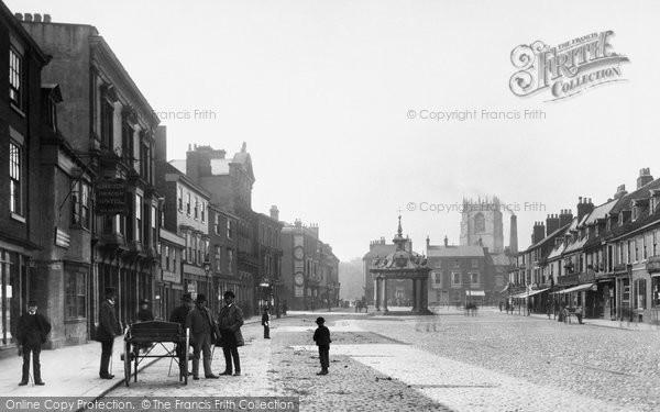 Beverley, Market Place 1886