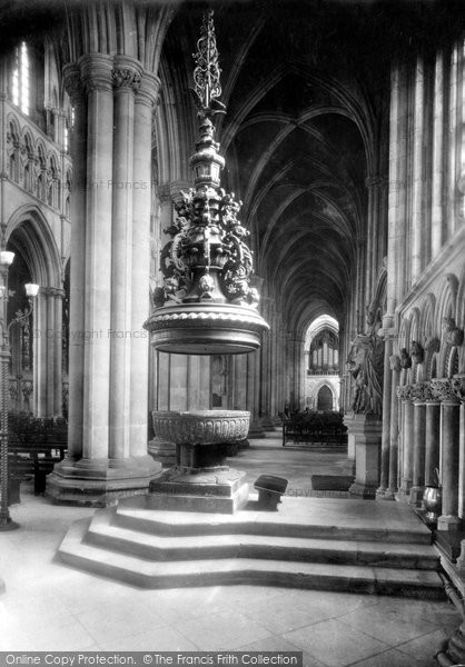Beverley, Minster Font In South Aisle 1918