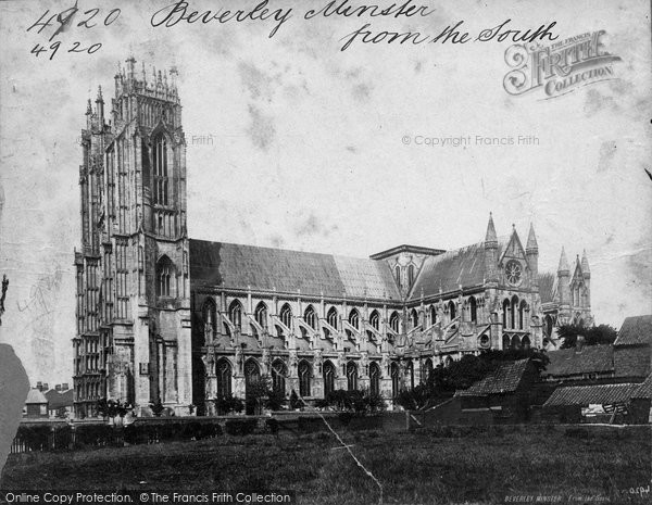 Beverley, Minster, From The South c.1869
