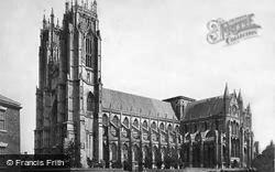 Beverley, Minster, From The South West c.1869