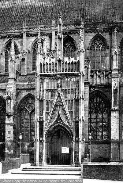 Beverley, Minster North Door c.1885