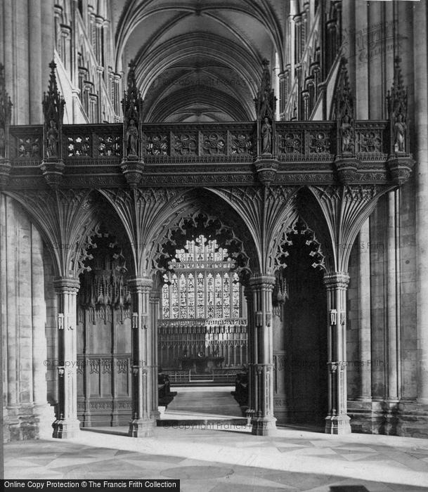 Beverley, Minster, The Screen c.1869