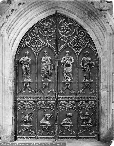 Beverley, Minster, West Door c.1862