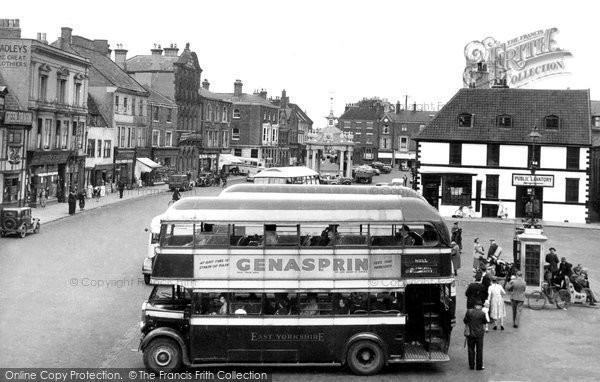 Beverley, Saturday Market Place c.1955
