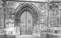 Beverley, St Mary's Church, West Door c.1866