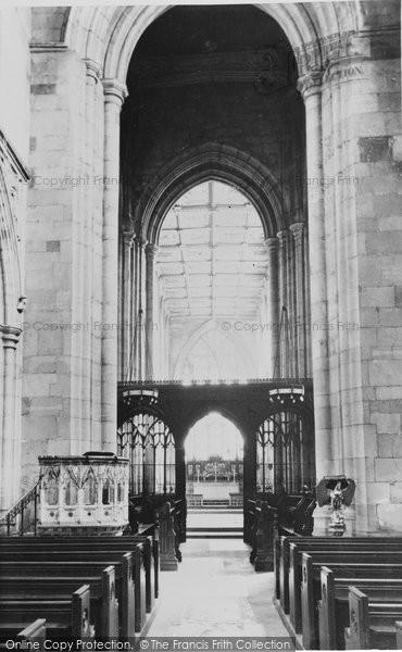 Beverley, The Chancel, St Mary's Church c.1955