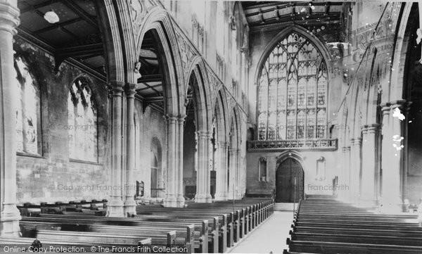 Beverley, The Nave, St Mary's Church c.1955
