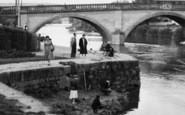 Bewdley, Boys Fishing On The Severn  c.1955