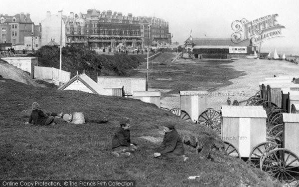 Bexhill, Boys On Grass 1897