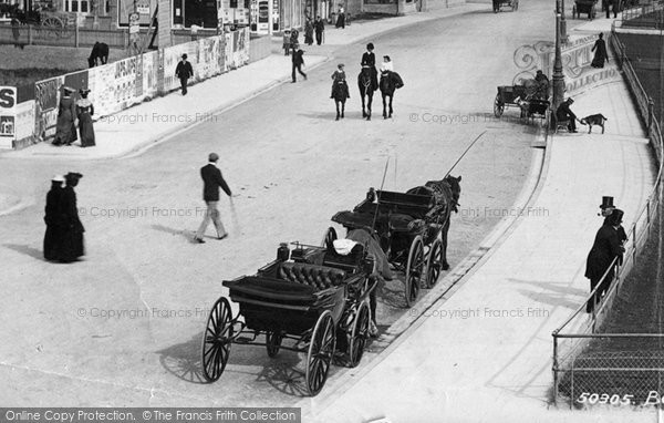 Bexhill, Carriages, The Parade 1903