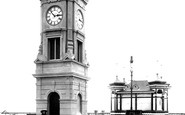 Bexhill, Clock Tower And Bandstand 1904