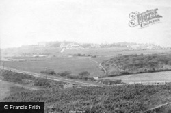 Bexhill, Old Town From Galley Hill 1894