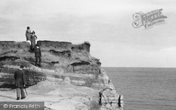 Bexhill, People On The Cliff Walk 1912
