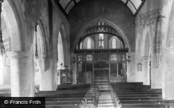Bexhill, St Peter's Church Interior 1903