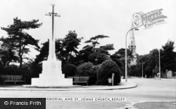 Bexley, The Memorial And St John's Church c.1955