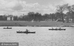 Rowing On The Lake, Danson Park c.1955, Bexleyheath