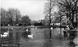 The Lake, Danson Park c.1955, Bexleyheath