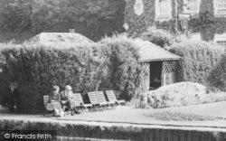 Bibury, The Swan Hotel Garden c.1960