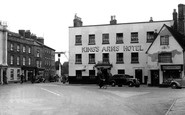 Bicester, Market Square And King's Arms Hotel c.1955