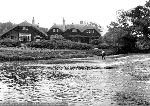 Bickleigh, Fisherman's Cot Hotel And River Exe c.1955