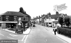 Biddulph, High Street And Memorial c.1965