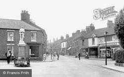 Biddulph, High Street And War Memorial c.1955