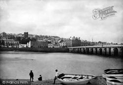 Bideford, Bridge And Town 1890
