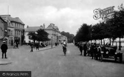 Bideford, Cyclist On The Promenade 1919